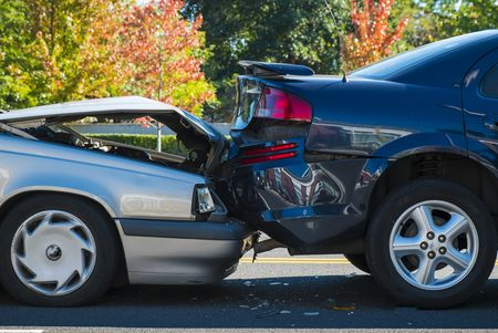 rear ended two cars in accident